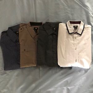Lot of 4 H&M Button Down Shirts